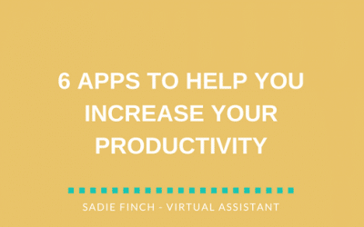 6 apps to help you increase productivity