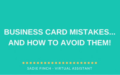 Business card mistakes