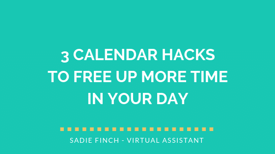 3 calendar hacks to free up more time in your day